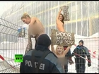 Femen topless protest video: 'Gangsta party in Davos'