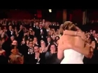 Best Actress Oscars 2013 Jennifer Lawrence trips and falls down wins acceptance speech 24/2/2013 HQ