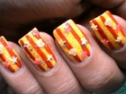 Seaside Sunnies - Nail Polish Designs Long & Short Nails - Cute Glitter Nail Art Tutorial Video