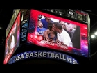 Barack Obama and Michelle Obama kiss for 'kiss cam' during USA basketball game