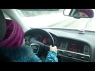 Russian 8-Year Old Girl Driving An Audi Up To 100kmH (62mph)