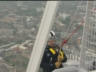 Prince Andrew abseils down Europe's tallest skyscraper The Shard