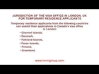 Jurisdiction of the visa office in London, UK for temporary residence applicants