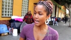 Rosa Acosta goes on Skid Row to feed the Homeless